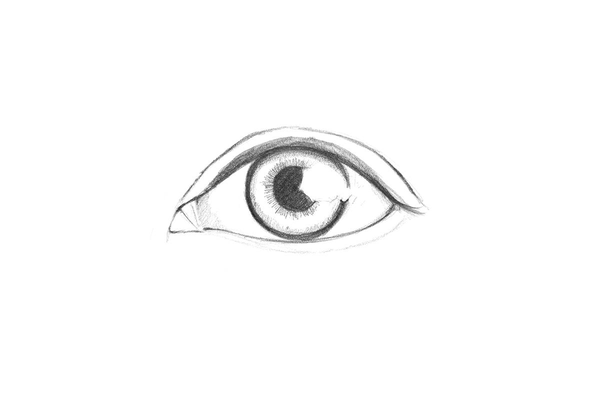 Drawn eye detailed #14
