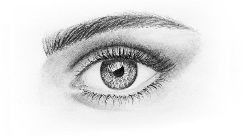 Drawn photos eyelash Draw beautiful to Eye How