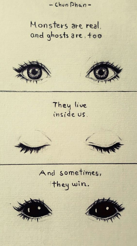Drawn quote artist Creepy eyes Stephen Sketch drawing