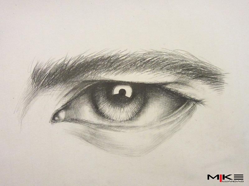 Drawn photos male eye A  IMG_0650_name Luan Dao