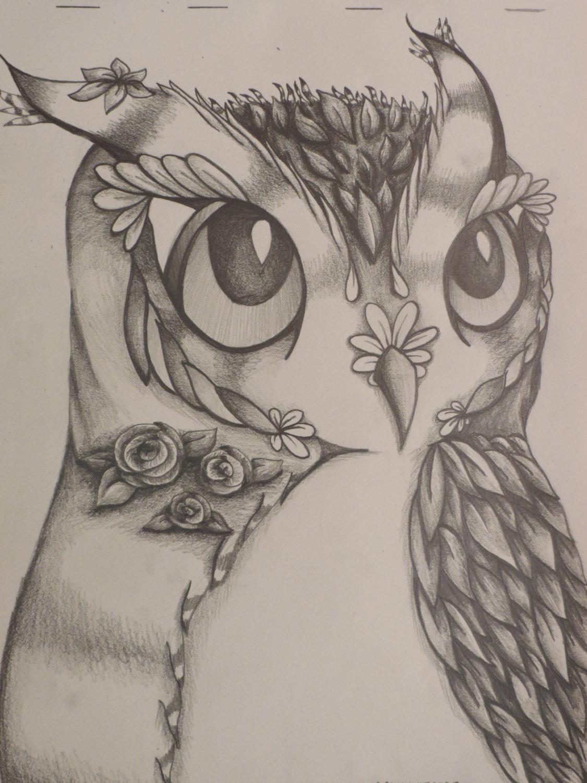 Drawn owl nature #1