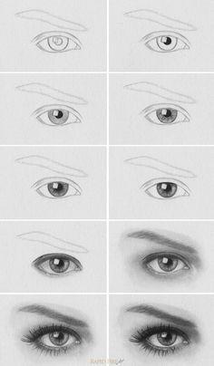 Drawn contrast perfect eye 20+ ideas a to draw