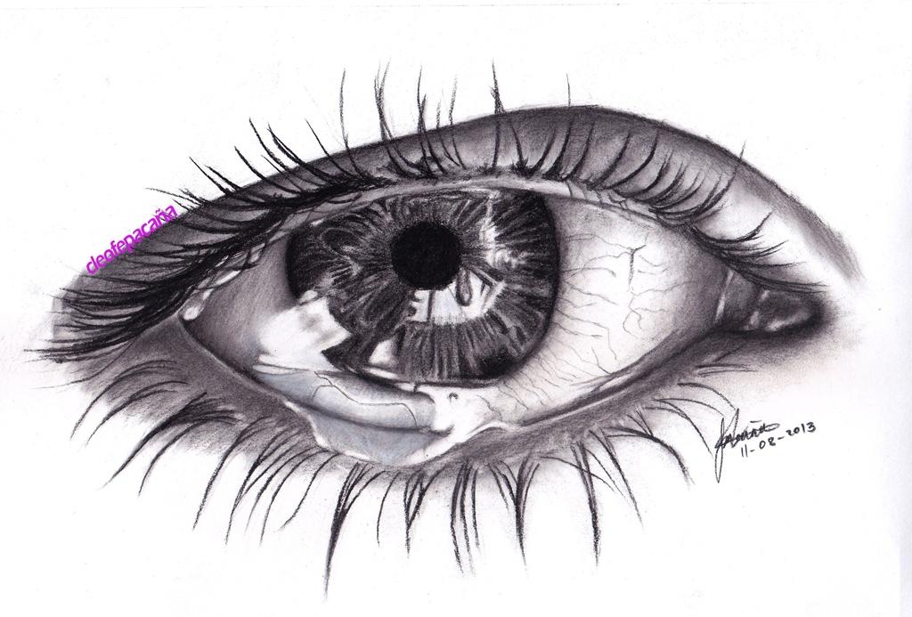 Drawn sad realistic Eye (scanned by cLoELaLi11 cLoELaLi11