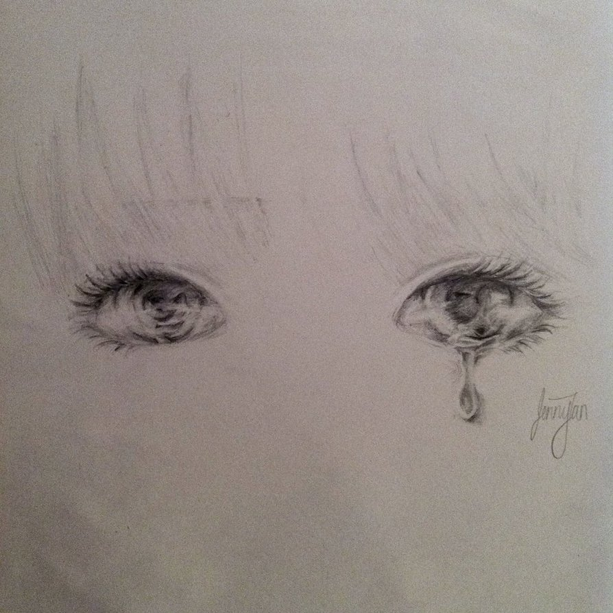 Drawn sad sad eye By Sad on Caramelhearts eyes