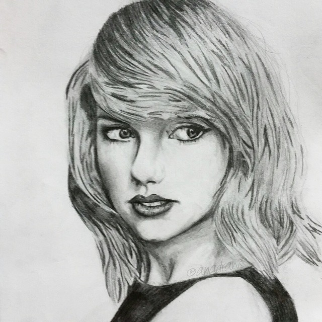 Drawn portrait taylor swift Class=