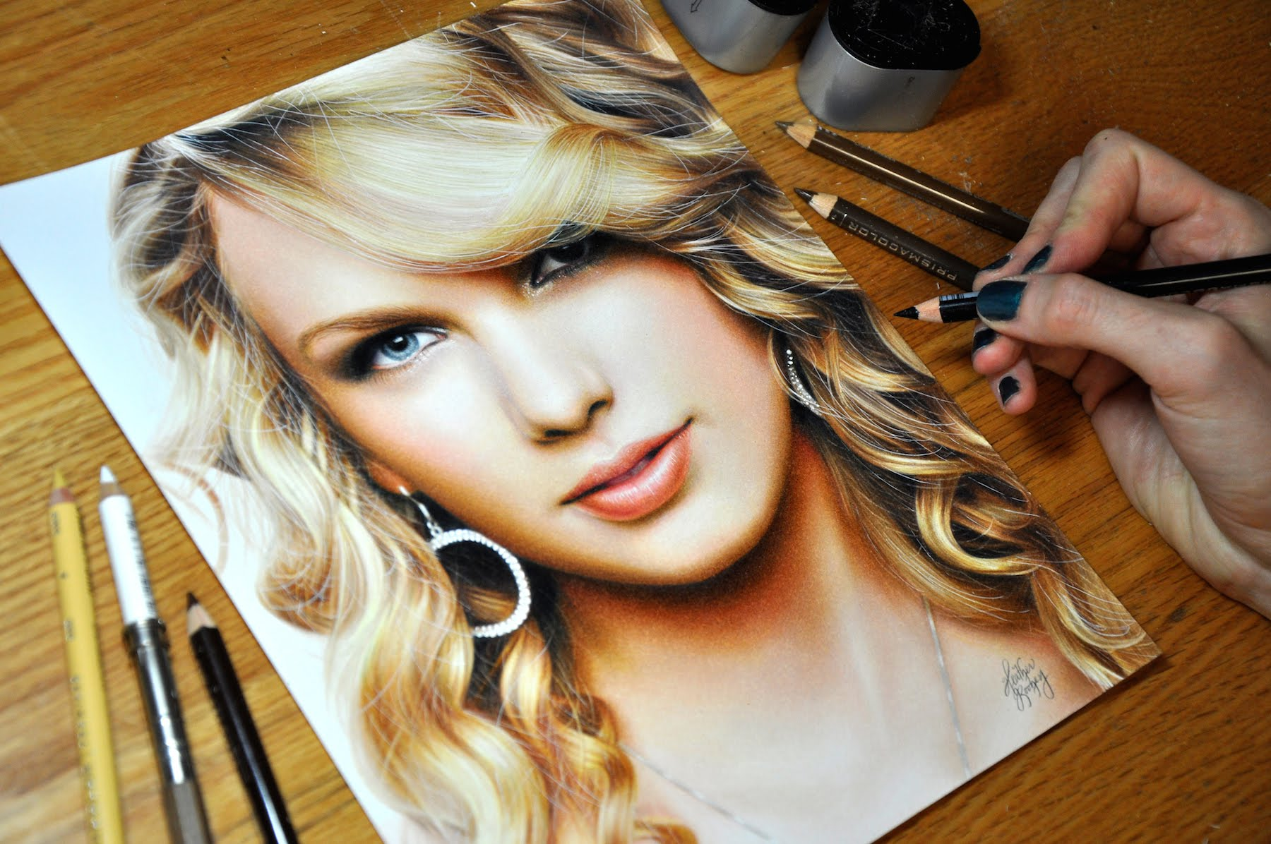 Drawn celebrity real life Swift Taylor YouTube Drawing
