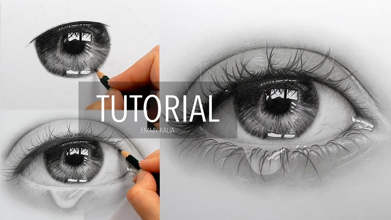 Drawn waterdrop realistic Step with How a eye