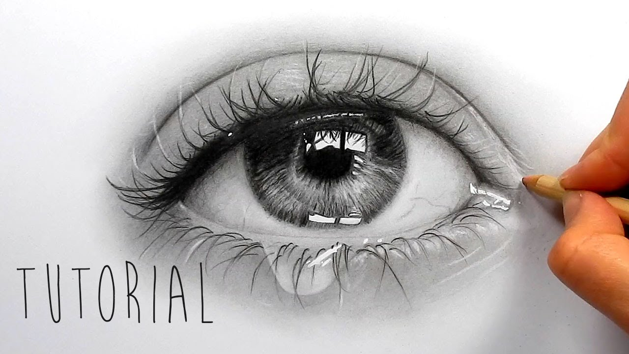 Drawn waterdrop realistic Eye How shade realistic to