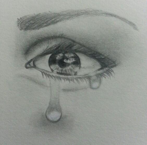 Drawn tears teary eye Pinterest Nichols drawing drawing Eye