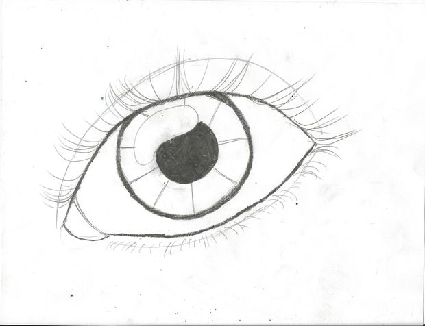 Drawn eyeball To Lashes (updated): Lines Draw