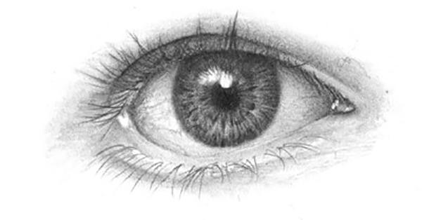 Drawn eyeball Eye the  OnlyPencil Drawing