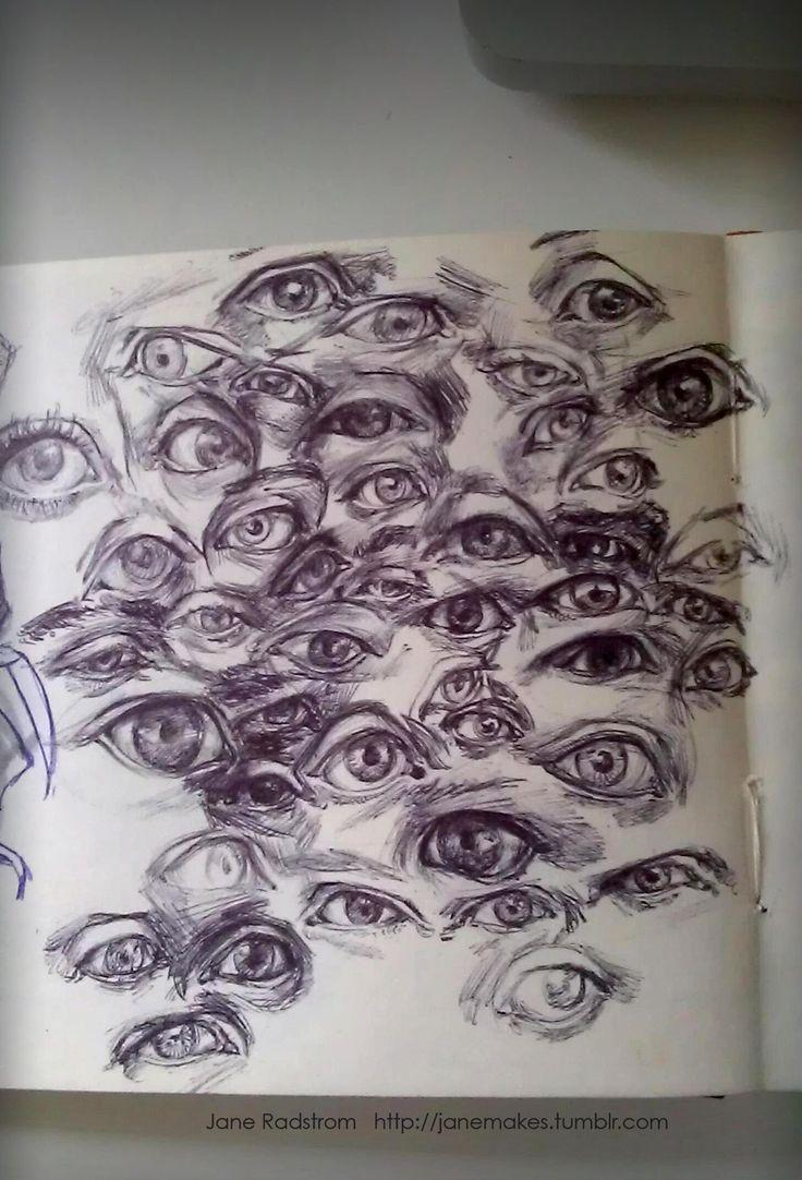 Drawn eyeball artistic eye Drawing eyeballs wrapping folding on