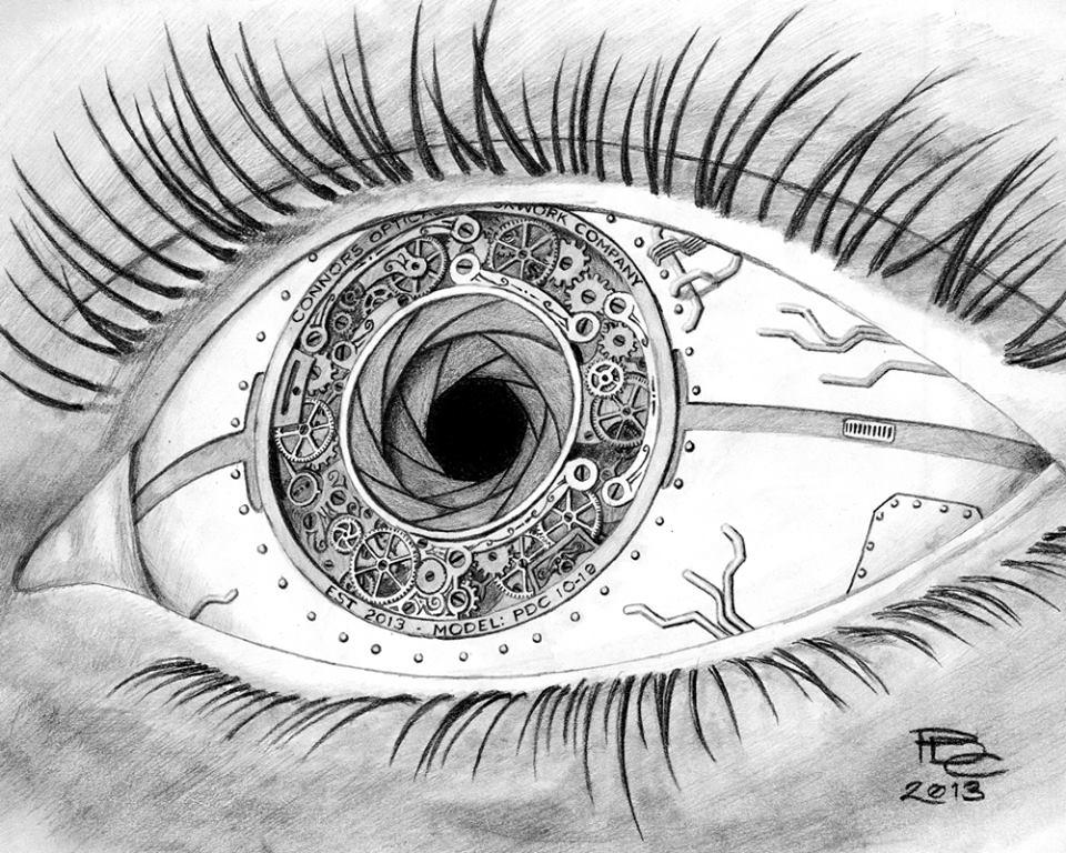 Drawn eyeball artistic eye Eye  Facebook Patrick Clockwork