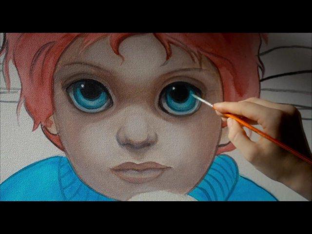 Drawn eyeball big eye Big Trailer Poster (2014) Eyes
