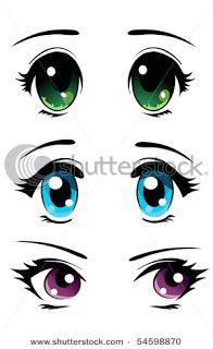 Drawn eyeball big eye Common Doll girl eyes simple