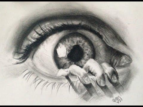 Drawn eyeball big eye Charcoal/Graphites in Drawing Charcoal/Graphites Eye
