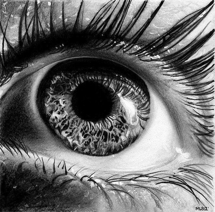 Drawn eye detailed #1