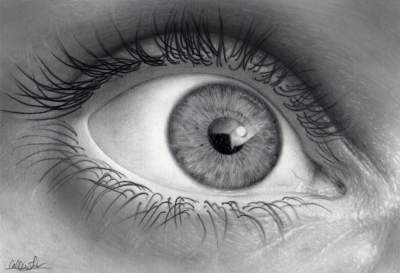 Drawn eyeball black and white And white black objects and
