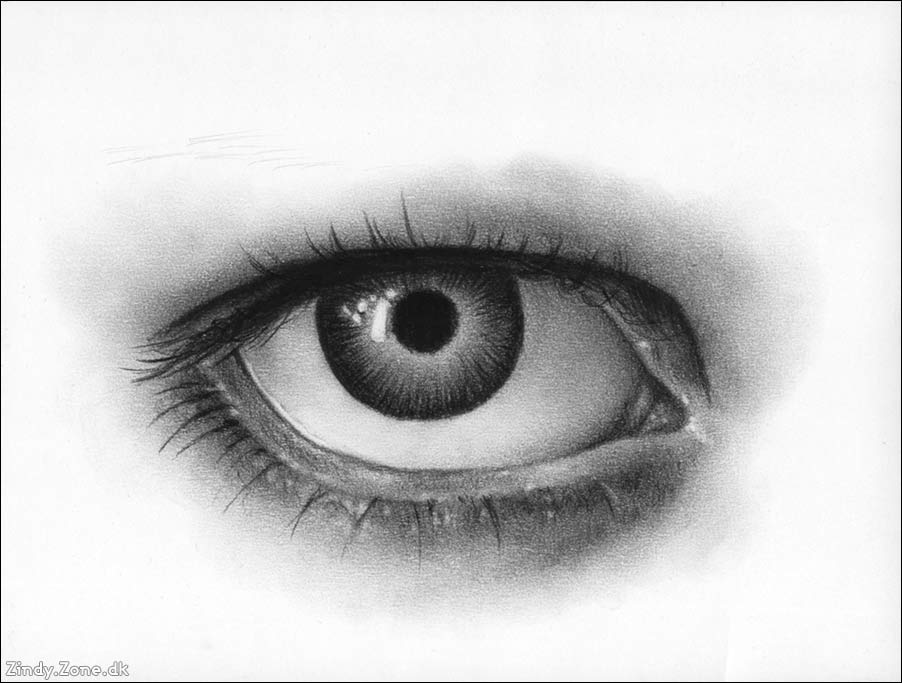Drawn eyeball black and white Eye Tutorial Charcoal 11 Tutorials