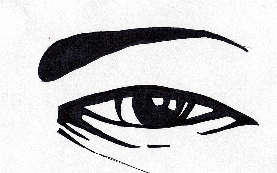 Drawn eyeball black and white Chambers Black Marc Black And