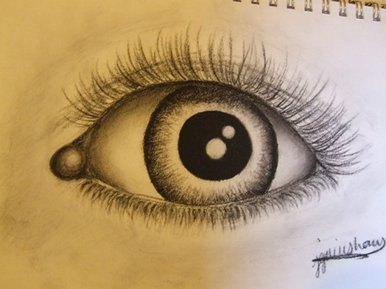 Drawn eyeball black and white Eye White Black Drawing