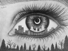 Drawn eyeball black and white EyesDrawing easy Drawing drawings black