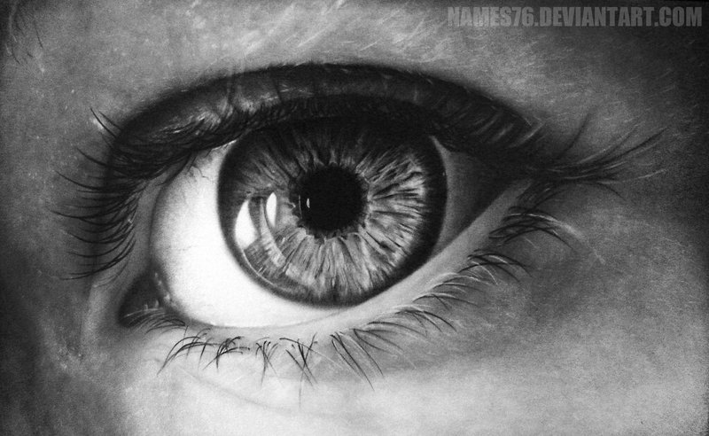 Drawn eyeball black and white DeviantArt Eye on Names76 Drawing