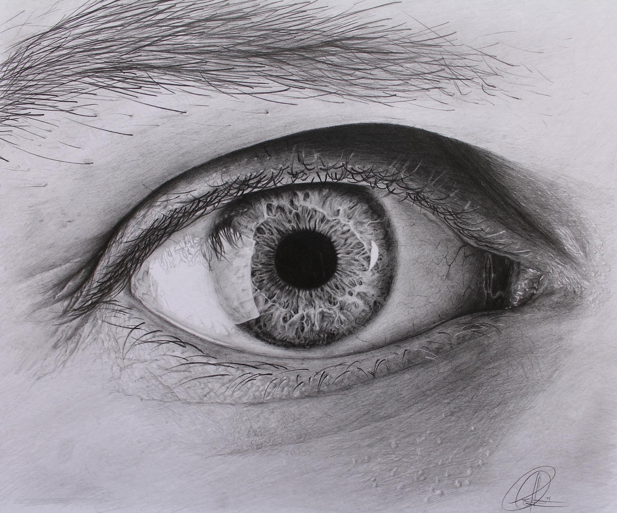 Drawn eyeball black and white Drawn Eye A White Wallpaper