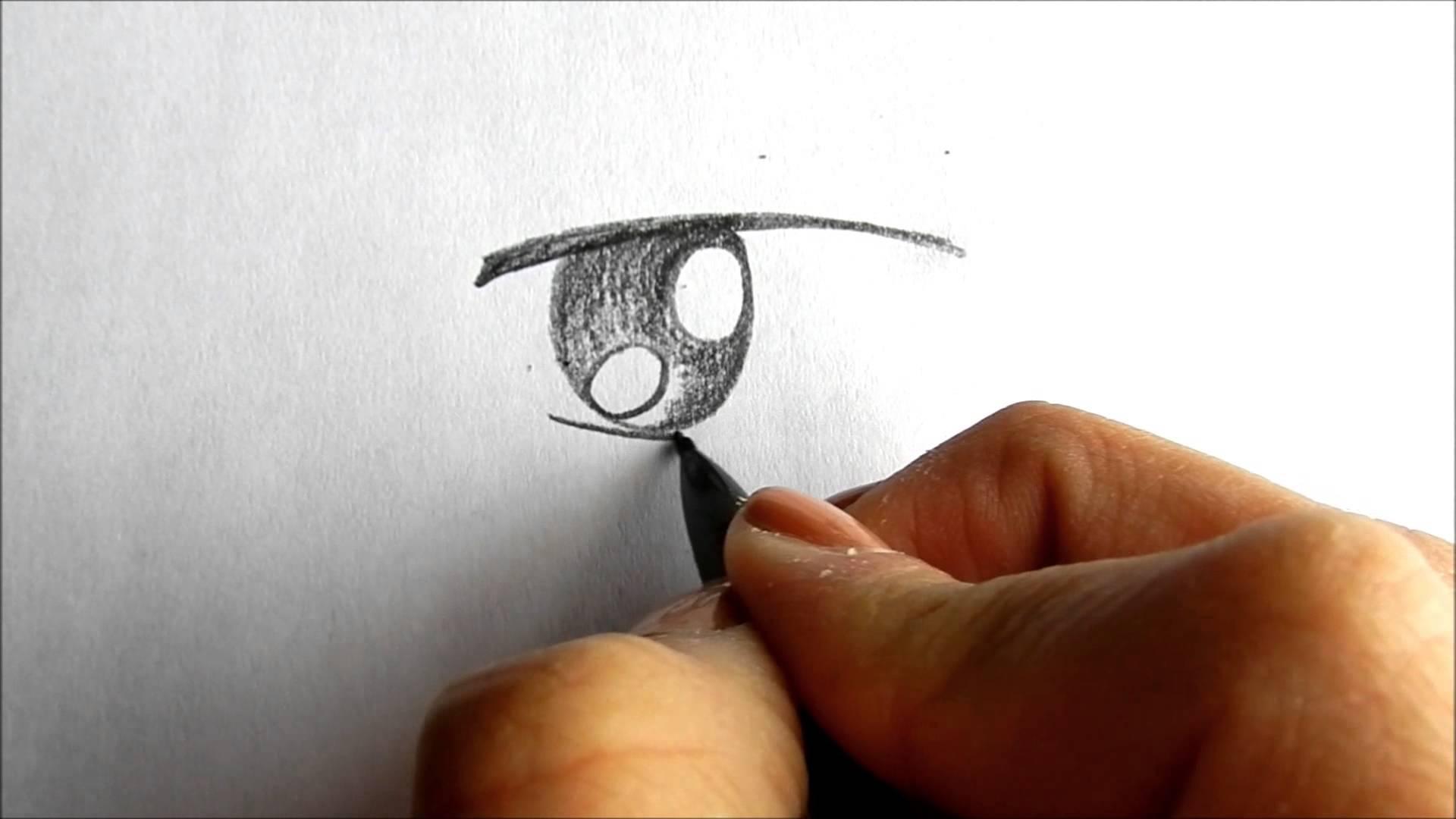 Drawn eyeball boy YouTube  simple eye Drawing