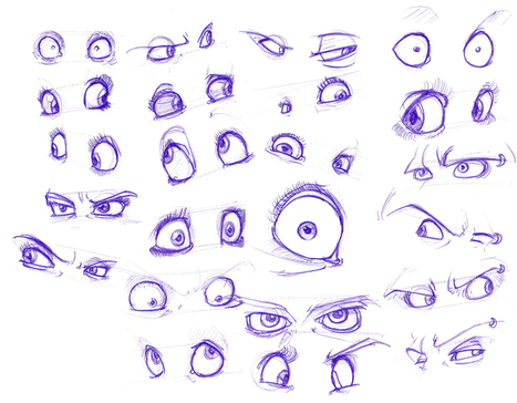 Drawn eyeball boy Reference' Expressive Resources Reference References