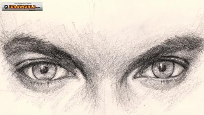 Drawn eyeball boy Eyes drawing digital man drawing