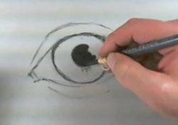 Drawn eyeball charcoal Realistic Charcoal eye charcoal the