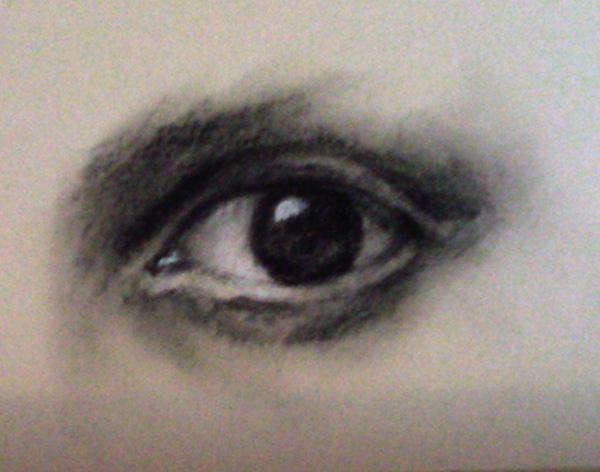 Drawn eyeball charcoal Drawing Expressive Design – drawing