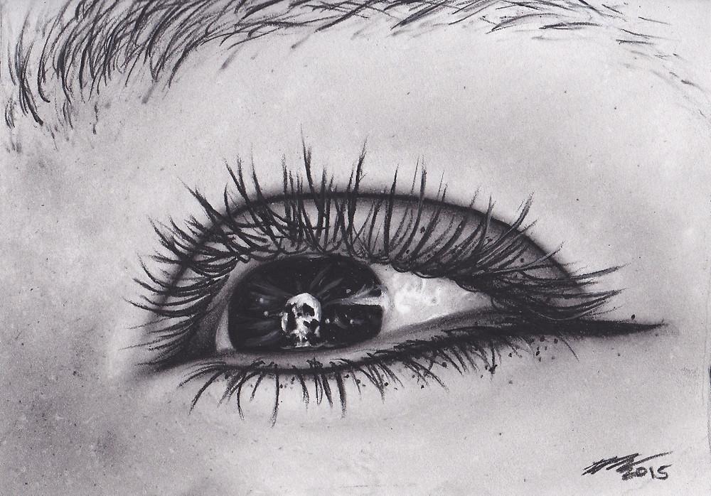Drawn eyeball charcoal Eye Pupil