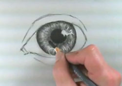 Drawn eyeball charcoal With step eye How Charcoal