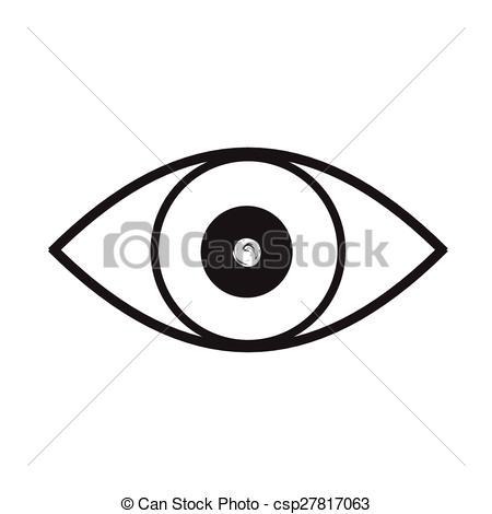 Eyeball clipart drawn Art of black and and