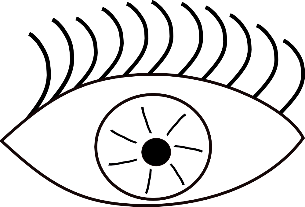Eyeball clipart drawn Clipart Free White Black Eye