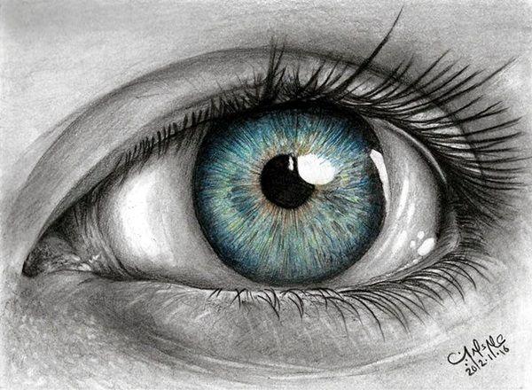 Drawn eye detailed #3