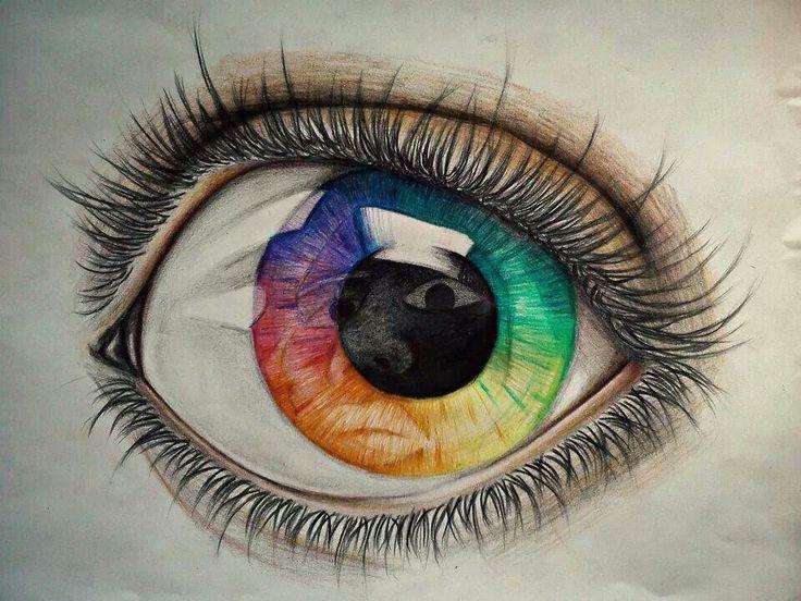 Drawn rainbow colour Pencil Eye 159 on best