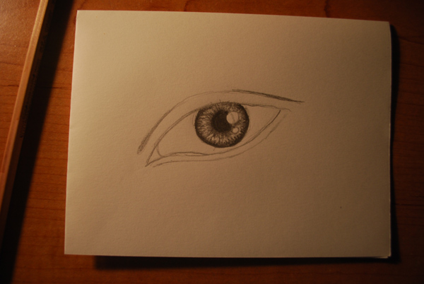 Drawn contrast perfect eye (if Nonsense Draw Awesome Sketch