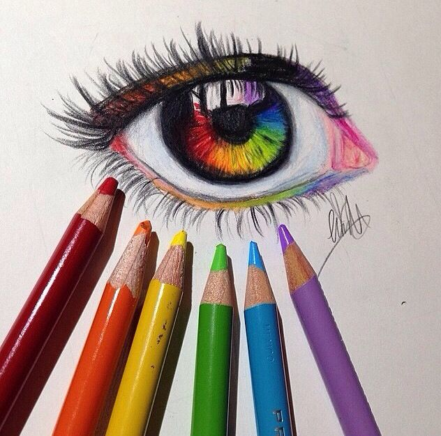 Drawn rainbow draw Best Pin Eyes Creative on