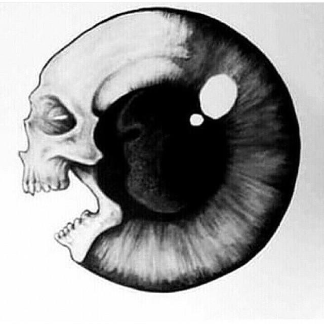 Drawn eyeball creepy eye #eyes #skull Instagram eyeball #eyeball