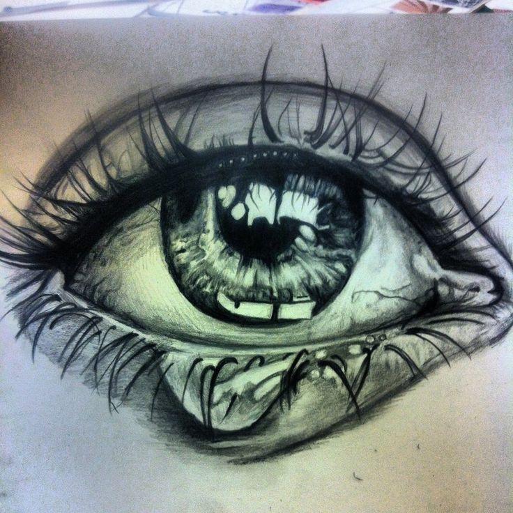 Drawn brains eye Idea eye for drawing on