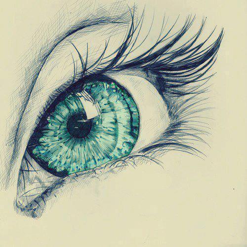 Drawn eyeball cute Prettyiest i seen life!! my