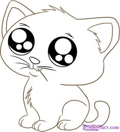 Drawn animal kitten #8
