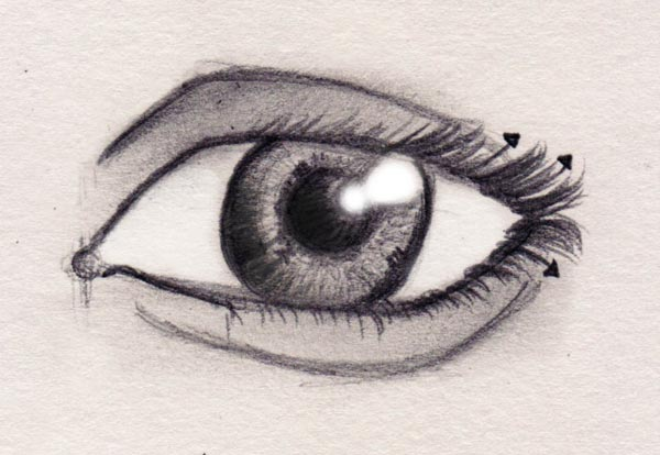 Drawn eyeball detail drawing With composition last can also