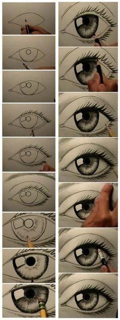 Drawn eyeball detail drawing Really pàgina drawing! cervol una