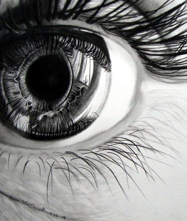 Drawn eyeball detail drawing How 20+ Draw eye Best
