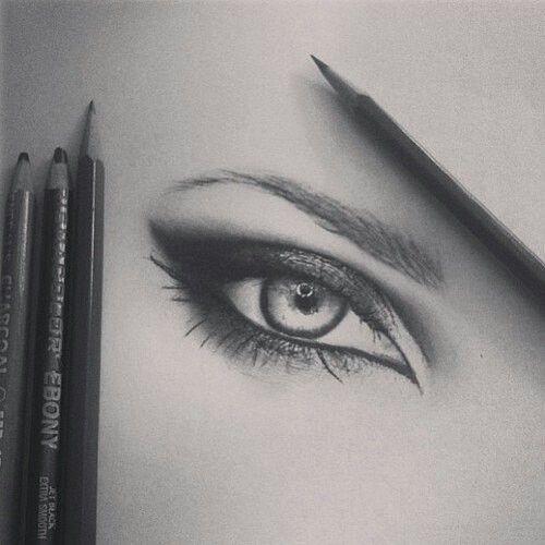 Drawn eyeball detail drawing Pencil eye Pinterest about drawn