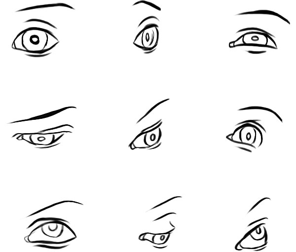 Drawn eyeball different eye To Eyes Realistic different eye